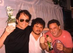 RKBaré, produtor Galba e DJ Caú Borges