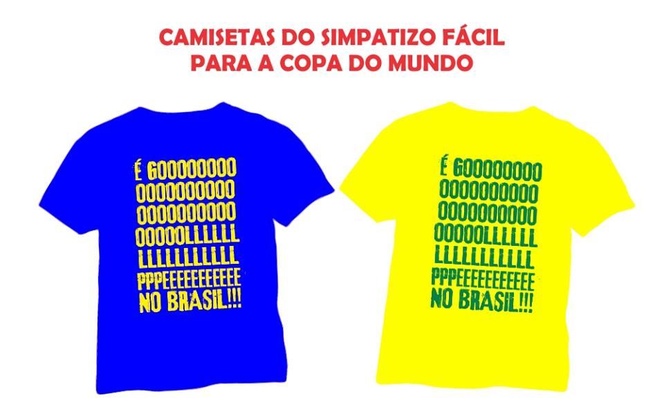 Camiseta Golpe no Brasil amarela e azul 01