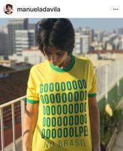 Camiseta Golpe no Brasil COPIA Manuela Davila 01